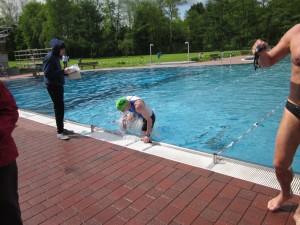 Ausstieg nach 300 m Schwimmen