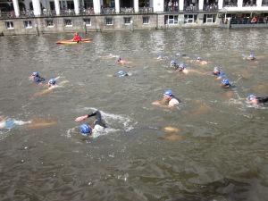 swim in 17.3°C